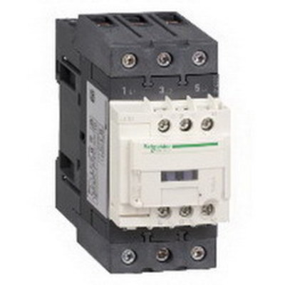 Square D - Schneider Electric LC1D65AB7 Schneider Electric / Square D LC1D65AB7 TeSys Non-Reversing IEC Contactor; 3-Pole, 1 or 3 Phase, 65 Amp, 600 Volt