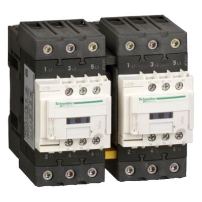 Square D - Schneider Electric LC2D40AG7 Schneider Electric / Square D LC2D40AG7 TeSys Reversing IEC Contactor; 3 Pole, 40 Amp, 120 Volt