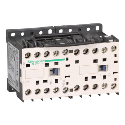 Square D - Schneider Electric LC2K0610F7 Square D LC2K0610F7 Reversing Contactor, 440 VAC, 110 VAC Coil, 6 A, 3 kW, 50/60 Hz, 3-Pole, 3NO