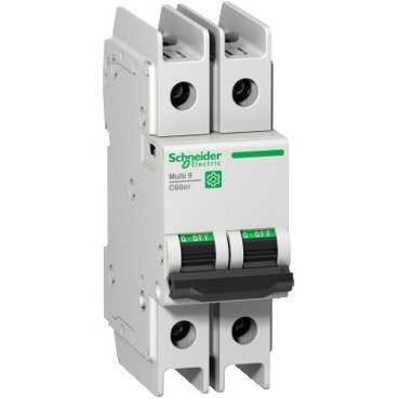 Square D - Schneider Electric M9F42202 Square D M9F42202 Miniature Thermal Magnetic Circuit Breaker, 240/415/440 VAC, 2 A, 2-Pole, Clip-On Mount