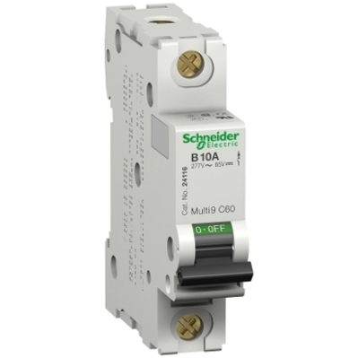Square D - Schneider Electric MG17411 Square D MG17411 Miniature Thermal Magnetic Circuit Breaker, 240/415 VAC, 60 VDC, 0.5 A, 1-Pole, Clip-On Mount