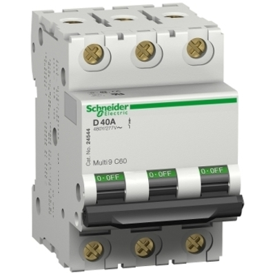Square D - Schneider Electric MG17467 Square D MG17467 Miniature Thermal Magnetic Circuit Breaker, 240/415/440 VAC, 30 A, 3-Pole, Clip-On Mount