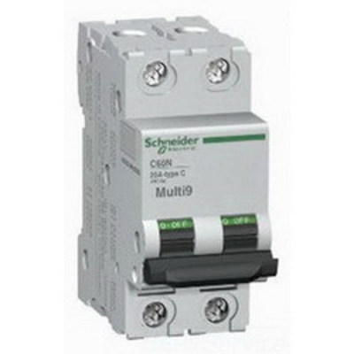 Square D - Schneider Electric MG24135 Schneider Electric / Square D MG24135 Multi 9™ Supplementary Protector; 25 Amp, 480Y/277 Volt AC, 2-Pole, DIN Rail Mount