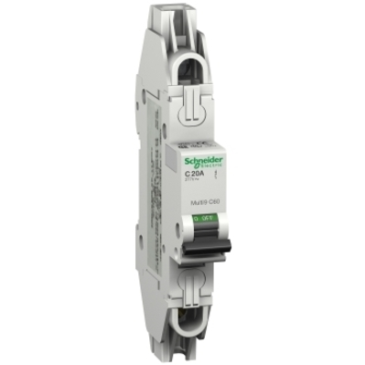 Square D - Schneider Electric MGN61305 Schneider Electric / Square D MGN61305 Multi 9™ Supplementary Protector; 5 Amp, 480Y/277 Volt AC, 1-Pole, DIN Rail Mount