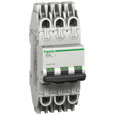 Square D - Schneider Electric MGN61361 Schneider Electric / Square D MGN61361 Multi 9™ Supplementary Protector; 6 Amp, 480Y/277 Volt AC, 3-Pole, DIN Rail Mount