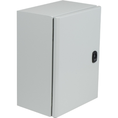 Square D - Schneider Electric NSYS3DC8825 Square D NSYS3DC8825 Plain Door Compact Enclosure, 800 mm Width, 250 mm Depth, 800 mm Height, Steel, Epoxy-Polyester Powder, IP66