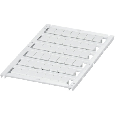 """Square D - Schneider Electric NSYTRABPV8 """"Square D NSYTRABPV8 Terminal Block Marker Card with 6 Strips, 8 mm, """"""""Blank"""""""", Polyamide/White"""""""