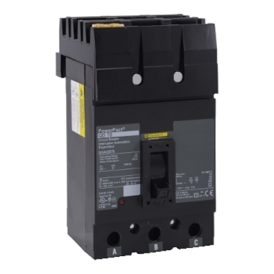 Square D - Schneider Electric QGA32175 Schneider Electric / Square D QGA32175 I-Line® Powerpact® Molded Case Circuit Breaker; 175 Amp, 240 Volt AC, 3-Pole, Plug-On Mount