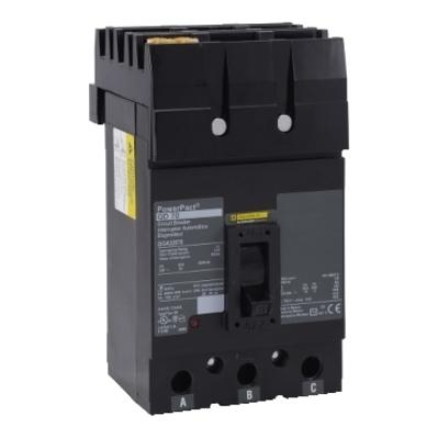 Square D - Schneider Electric QGA32225 Schneider Electric / Square D QGA32225 I-Line® Powerpact® Molded Case Circuit Breaker; 225 Amp, 240 Volt AC, 3-Pole, Plug-On Mount