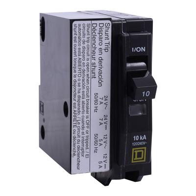 Square D - Schneider Electric QO1201042 Square D QO1201042 Miniature Circuit Breaker, 120/240 VAC, 48 VDC, 20 A, 1-Pole, Plug-In Mount