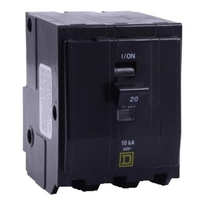 Square D - Schneider Electric QO325VH Schneider Electric / Square D QO325VH QO™ Miniature Circuit Breaker; 25 Amp, 240 Volt AC, 3-Pole, Plug-On Mount