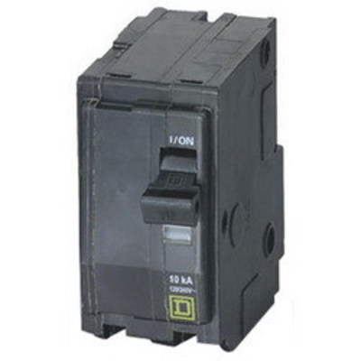 Square D - Schneider Electric QOB220H Schneider Electric / Square D QOB220H Miniature Circuit Breaker with Visi-Trip® Indicator; 20 Amp, 240 Volt AC, 2-Pole, Bolt-On Mount