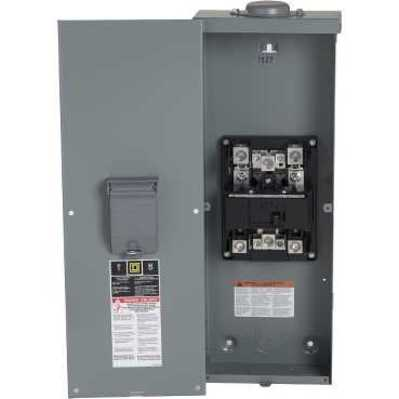 Square D - Schneider Electric QOM2E2200NRB Schneider Electric / Square D QOM2E2200NRB Main Breaker Load Center; 120/240 Volt AC, 200 Amp