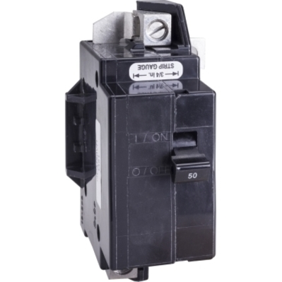 Square D - Schneider Electric QOM50VH Schneider Electric / Square D QOM50VH Main Circuit Breaker; 50 Amp, 120/240 Volt AC, 2-Pole, Bolt-On Mount