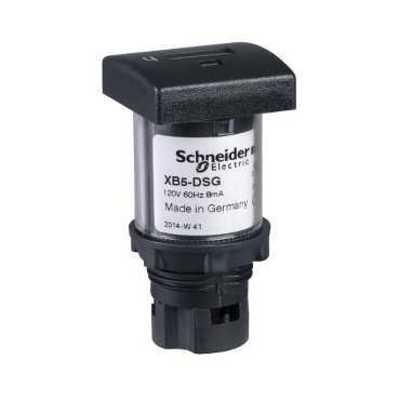 Square D - Schneider Electric XB5DSB Schneider Electric / Square D XB5DSB Hour Counter; 7 - 15 Milli-Amp, 12 - 24 Volt, Plastic Bezel