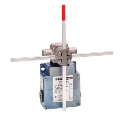 Square D - Schneider Electric XCKMR54D1 Schneider Electric / Square D XCKMR54D1 OsiSense® Limit Switch; 10 Amp, 300/500 Volt, (2) 2 NC, Rotary Head/Metal Stay Put Crossed Rods Lever Actuator