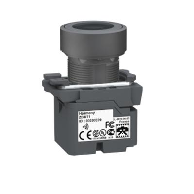 Square D - Schneider Electric ZB5RTA2 Square D ZB5RTA2 Push Button with Transmitter White Cap, 22 mm Diameter, Plastic Bezel, Black