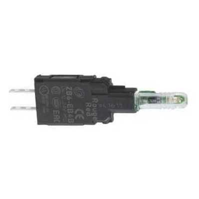 Square D - Schneider Electric ZB6EB5B Schneider Electric / Square D ZB6EB5B Light Block With Body/Fixing Collar With Integral LED; Faston Connector, Yellow