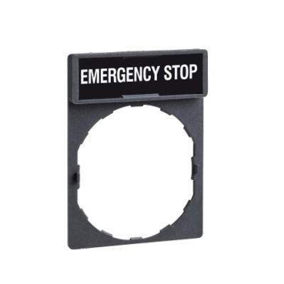 Square D - Schneider Electric ZBY2330 Schneider Electric / Square D ZBY2330  Emergency Stop Legend Plate