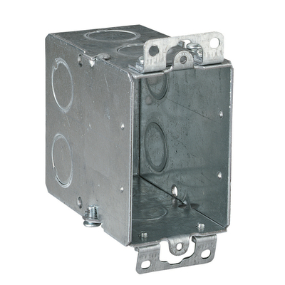 THOMAS & BETTS CY1/2 Steel City CY-1/2 Gangable Switch Box; 3 1/2 Inch Depth, 9 Knockouts