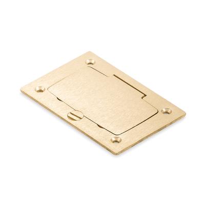 THOMAS & BETTS P64-GFCI Steel City P64-GFCI MopTite™ GFCI Cover Plate With Flip Lid; Brass