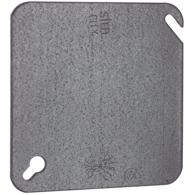 Thomas & Betts 52C1 Steel City 52-C-1 4 In Square Blank Outlet Box Cover