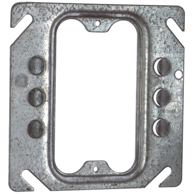 Thomas & Betts 52C62 Steel City 52-C-62 4 in. Single Gang Square Box Device Cover, 1/4 in. Raised, Keyed for Plaster