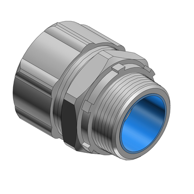 Thomas & Betts 5337 Thomas & Betts 5337 Straight Flexible Liquidtight Connector With Insulated Throat; 2 Inch, Steel, Electro-Plated Zinc/Chromate Coated, Tapered Threaded