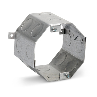 Thomas & Betts 545611/23/4 Steel City 54561-1/2-3/4 4 in. Steel Octagon Concrete Ring, 3 1/2 in. Deep, 1/2 in. and 3/4 in. Knockouts