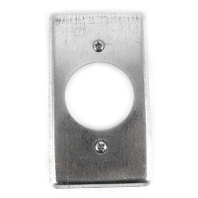 Thomas & Betts 58C4 Steel City 58-C-4 Steel City, 4 in. x 2-1/8 in. Utility Device Cover, 1-19/32 in. Hole Dia., Pre-Galvanized Steel