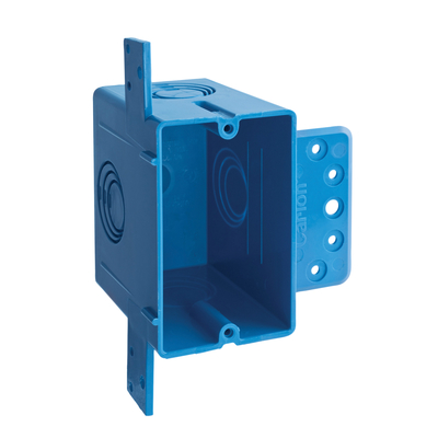 Thomas & Betts A122 Carlon A122 1-Gang Non-Metallic ENT Outlet Box; Thermoplastic, 22 Cubic-Inch, Blue