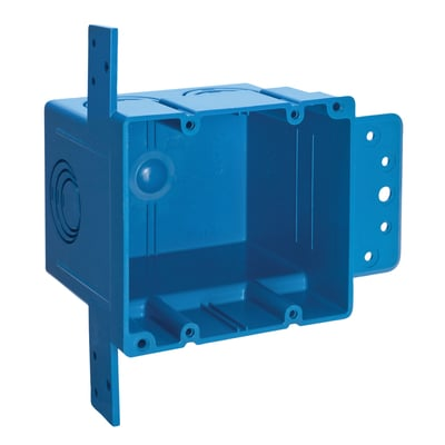 Thomas & Betts A238 Carlon A238 2-Gang ENT Outlet Box; Thermoplastic, 38 Cubic-Inch, Blue