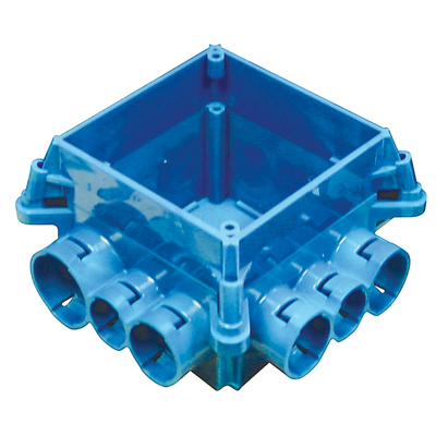 Thomas & Betts A863-4SQ Carlon A863-4SQ Non-Metallic Square Mud Box With Cover; Polycarbonate, Blue
