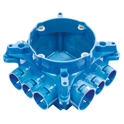 Thomas & Betts A863CFG Carlon A863CFG Non-Metallic Mud Box With Ceiling Ring and Ground Lug; Polycarbonate, Blue