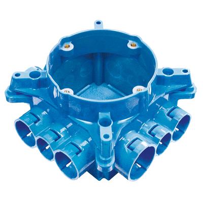 Thomas & Betts A863CF Carlon A863CF Non-Metallic Mud Box With Ceiling Ring; Polycarbonate, Blue