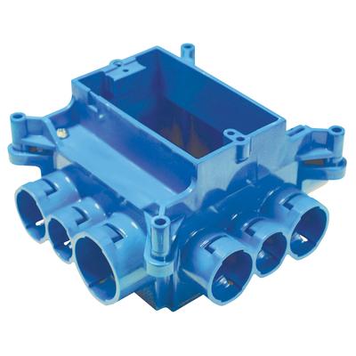 Thomas & Betts A863SG Carlon A863SG 1-Gang Mud Box; Polycarbonate, 37.3 Cubic-Inch, Blue