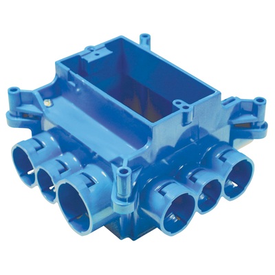 Thomas & Betts A863S Carlon A863S Non-Metallic Mud Box With 1-Gang Ring; Polycarbonate, Blue