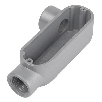Thomas & Betts ALR-5 Red Dot ALR-5 Type LR Conduit Body; 1-1/2 Inch, Threaded, Copper-Free Die-Cast Aluminum