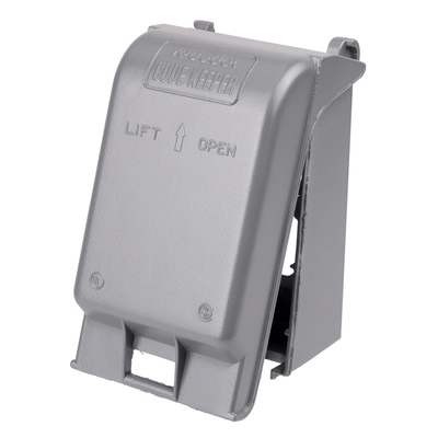 Thomas & Betts CKSUV Red Dot CKSUV Receptacle 1-Gang While-In-Use Universal Weatherproof Cover; Die-Cast Aluminum, Silver