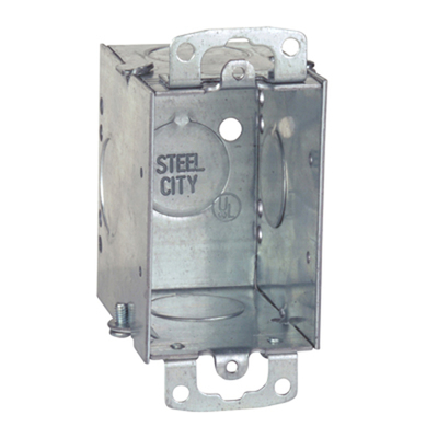 Thomas & Betts CW3/4-25 Steel City CW3/4-25 Gangable Old Work Switch Box; 3/4 in. Knockouts, 3 in.x 2 in.x 2 3/4 in