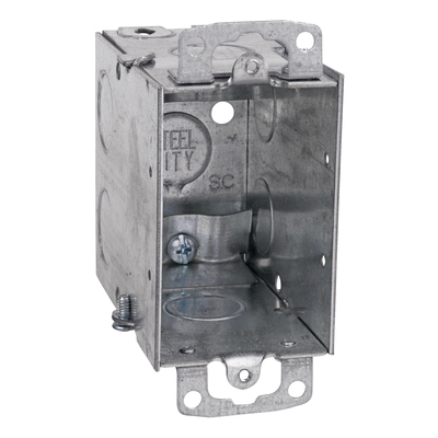 Thomas & Betts CXWOW Steel City CXWOW One Gang 18 cu.in. steel Switch Box For use With 68R Covers