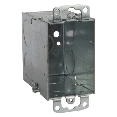 Thomas & Betts CY3/4 Steel City CY-3/4 Gangable Old Work Switch Box, 3/4 in. Knockouts, 3 in.x2 in.x 3 1/2 in.