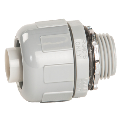 Thomas & Betts LT100G Carlon LT100G Carflex® Straight Liquidtight Non-Metallic Omni Connector; 1 Inch, Nylon 6/6