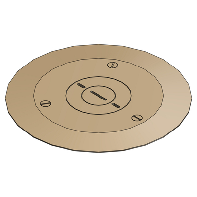 Thomas & Betts P603/42CACP Steel City P-60-3/4-2-CACP MopTite™ NPS Plug Carpet Cover Plate; Brass, Brushed Brass