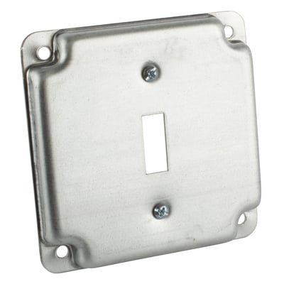Thomas & Betts RS9 Steel City RS-9 4-inch Steel Square Box Cover