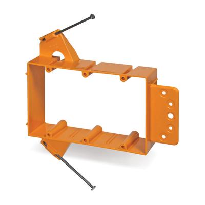 Thomas & Betts SC300A Carlon SC300A 3-Gang Low Voltage Bracket; Orange