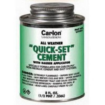 Thomas & Betts VC9984 Carlon VC9984 Quickset Cement With Dauber Applicator; 8 oz, Clear