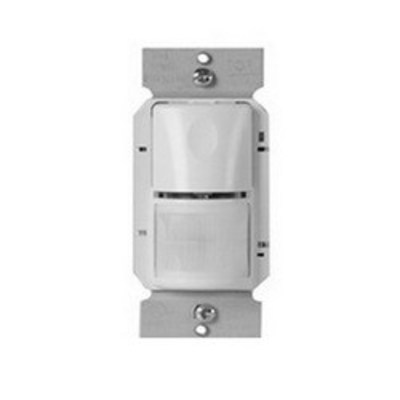 Wattstopper Lighting Controls WS-250-G Watt Stopper WS-250-G Passive Infrared Wall Switch Occupancy Sensor; 120/277/347 Volt AC, 900 Sq ft, 525 Sq ft IR Range On Axis, Automatic On/Off, Manual Off, Gray, Strap Mount